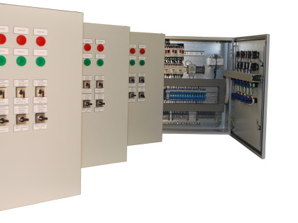 Control panel for heating groups